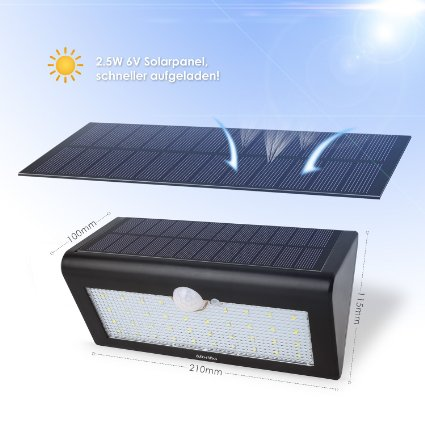albrillo led solarleuchte mit bewegungsmelder bewegungsmelder test 2018. Black Bedroom Furniture Sets. Home Design Ideas