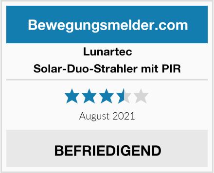 Lunartec Solar-Duo-Strahler mit PIR Test