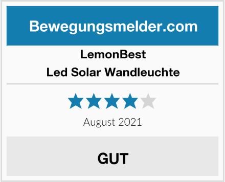 LemonBest Led Solar Wandleuchte Test