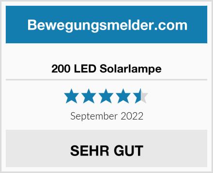 200 LED Solarlampe Test