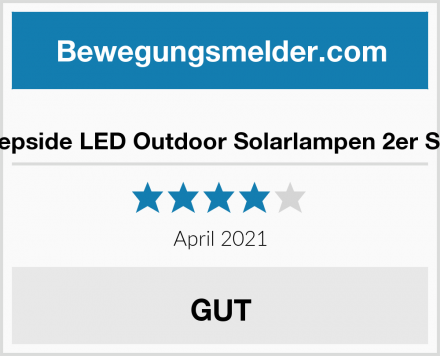 Hepside LED Outdoor Solarlampen 2er Set Test