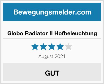 Globo Radiator II Hofbeleuchtung Test