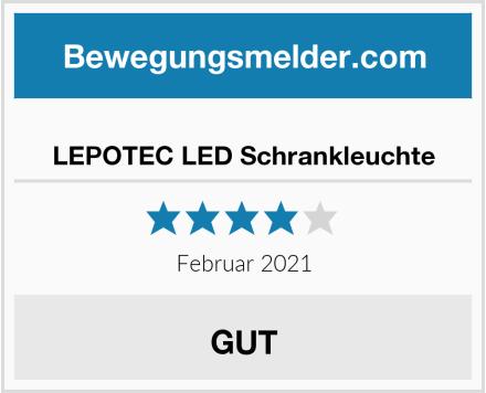 LEPOTEC LED Schrankleuchte Test
