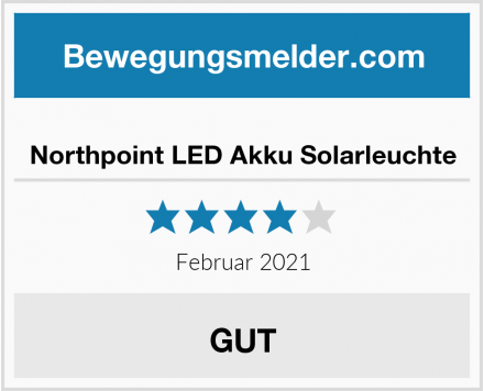 Northpoint LED Akku Solarleuchte Test