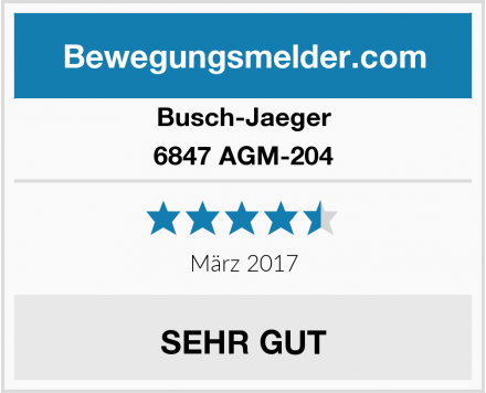Busch-Jaeger 6847 AGM-204 Test
