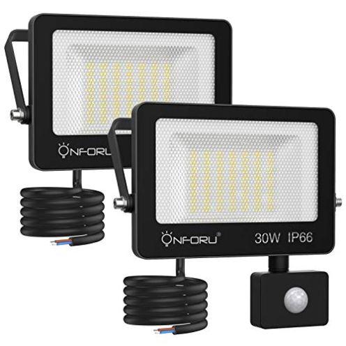 Onforu 2er Set LED Strahler mit Bewegungsmelder